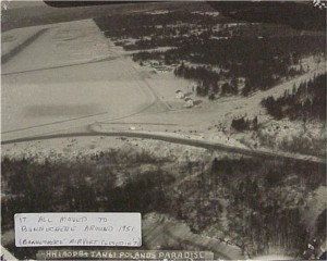 Aerial photo of Killaloe airport 1961. Killaloe Millennium Museum Exhibit.