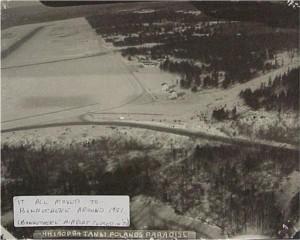 Aerial photo of Killaloe airport 1961. Killaloe Millennium Museum Exhibit.