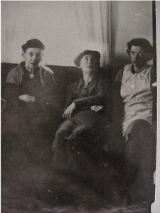 three ladies, unidentfied looking unhappy