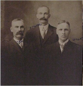 three unidentified men