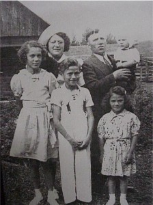 unidentified family on a farm
