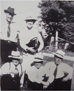 unidentified group of people with hats