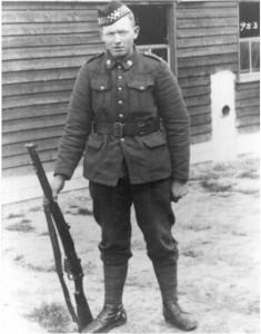unidentified soldier with gun